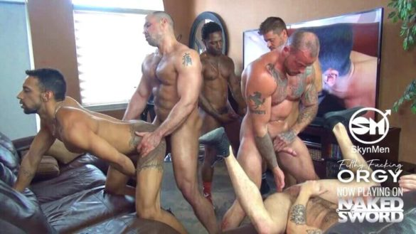 Orgy Gay Video : Filthy Fucking Orgy